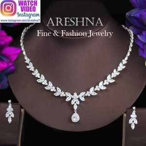 Luxury Swarovski Crystals Bridal Jewelry Set